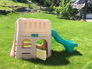 Little Tikes slide and playhouse