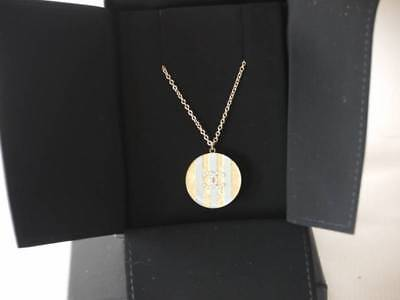 AUTH 2014 CRUISE SPRING CHANEL CANDY BLUE CC LOGO GOLD NECKLACE w/RECEIPT (Chanel Candy Necklace)
