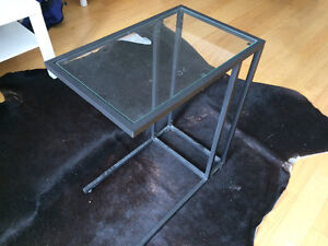 Glass night stand and clothing rack