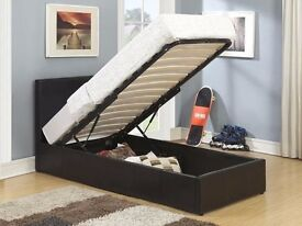 Brand New Single/Double Storage Bed with 11inch Dual-Sided Full Orthopaedic Mattress