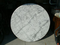 Round Solid Marble Pedestal Kitchen Table