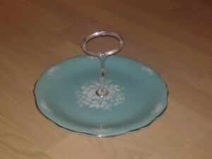 Royal Winton Cake Plate in Turquoise