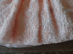 Like New two FLOWER GIRL DRESSES Size 6X Light Peach / Pink Cambridge Kitchener Area image 9