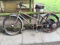 Vintage motorcycle motorbike classic barn find