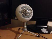 Blue snow ball USB microphone