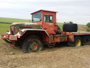 2 MILITARY 6 WHEEL DRIVE TRUCKS CONVERTED FOR AGRICULTURAL USE