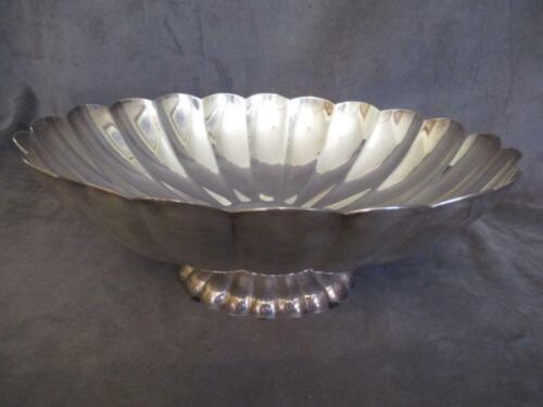"""Reed & Barton - Large Oval Footed Scalloped Bowl 12"""" x 10""""   rp"""