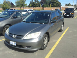 2005 Honda Civic 201000kms 5speed, etested $2200