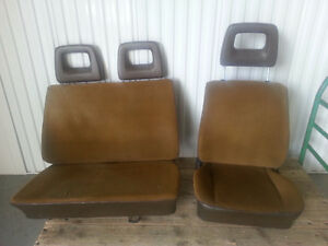 VW T3 driver and passenger bench seats