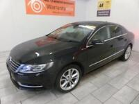 BLACK VOLKSWAGEN CC 2.0 TDI BLUEMOTION TECHNOLOGY DSG***FROM £196 PER MONTH***
