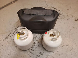 20Lb propane bottles with cover Strathcona County Edmonton Area image 1