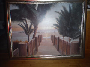 HOT!Low PRICE Beautiful Frame Palm Beach (Linen n Things $130)