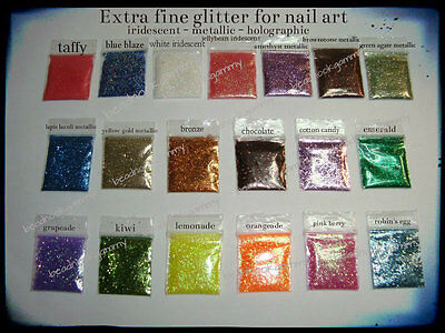 - Nail Art & Rice Vial Glitter extra fine metallic holographic buy 5, get 1 free