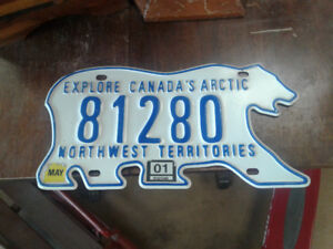 Northwest territories licence plate