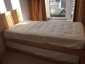 Two single or one double beds