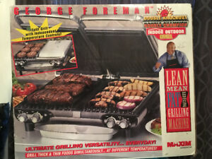 George Foreman Double Knock-Out Indoor / Outdoor Grill BNIB