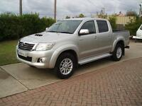 TOYOTA HI LUX 2.5D-4D ICON 2014 64 DOUBLE CAB TRUCK 1 OWNER F/S/H 30,000 MILES