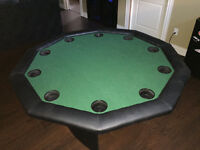 5' new custom made poker table top