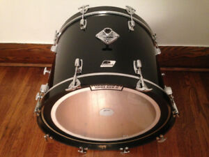 1980's Ludwig Rockers Black and White Badge drum shells