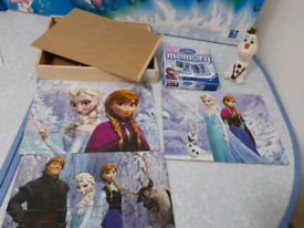 Disney Wooden Frozen Jigsaws & Memory Game and Olaf
