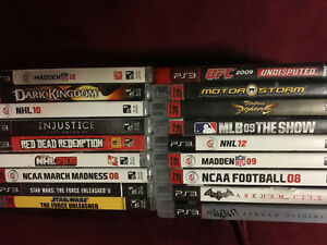PS3 and 18 games $200 obo