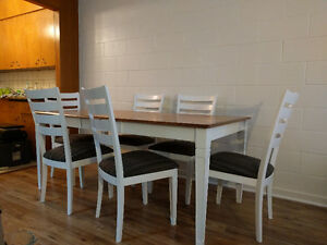 Custom Solid Wood Dining Set - NEWLY DISCOUNTED
