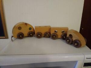 Train Tirelire Meubles et Décoration Y.H.C. Vintage en Bois