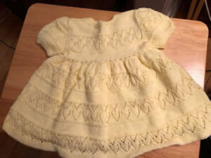 Toddler Hand Knit Winter Dresses