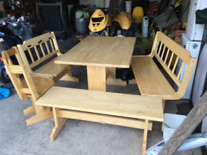 Perfect family breakfast nook easily changeable in shapes seats