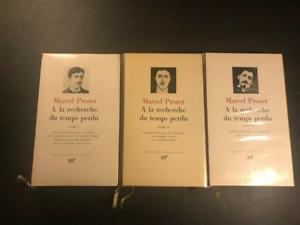 Marcel Proust - 3 tomes Bibliothèque de la Pléiade