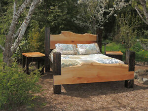 hand crafted timber or log beds,locally based