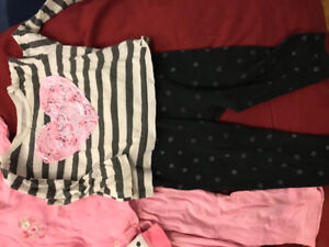 Two big box of baby girl clothes size 6-12 months