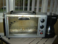Toaster Oven + Grill + Coffee Maker