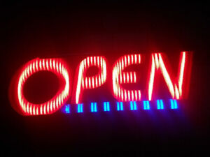 """LED Flashing """"OPEN"""" Sign Great For Any Business"""