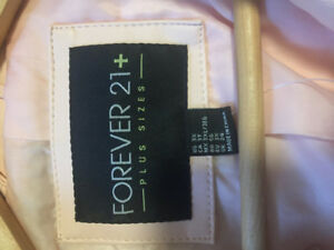 Forever 21 Faux leather light pink jacket