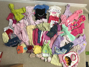 Large lot of Baby Girls Clothing Size 3-6 months