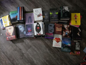 Various young adult books.