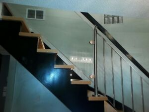 Stair Railings Installation in Metal - Wood - Glass