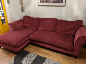 Pink DFS chaise sofa - free