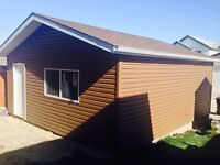 We do siding soffit fascia gutter and repair work
