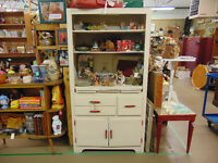 Vintage White Painted Cabinet