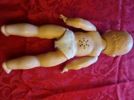 Vintage rose bud doll
