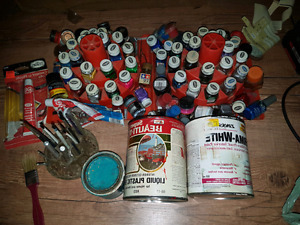 Huge lot of model paint and accessories