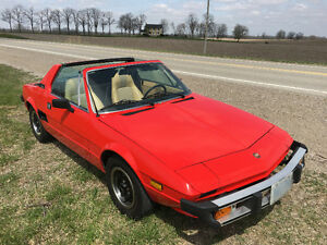1978 Fiat X1/9, 1300 CC, 4 speed, 34,000 Miles