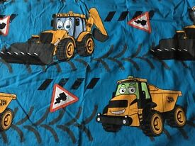 Pair of Curtains - Freddy Fast Track & Doug Dump Truck, with blackout lining