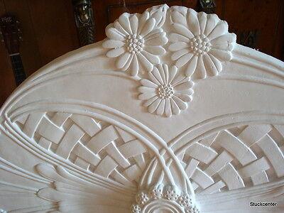 Stucco - Stuckrosette 100-182  - Jugendstil - Rosette  90 x 67cm  oval