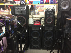 Sound Equipment, Speakers, Mixers, Power Amps, Lights and More!