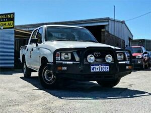 2001 Toyota Hilux LN147R White 5 Speed Manual Dual Cab Pick-up