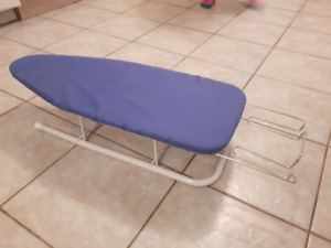 TWO TABLETOP IRONING BOARDS