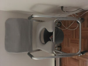 Padded Commode/ Shower Chair with Wheels